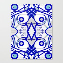 Blue morning - abstract decorative pattern Canvas Print