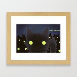 The Cat Came Back Framed Art Print