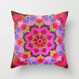 Mandala Opening Throw Pillow