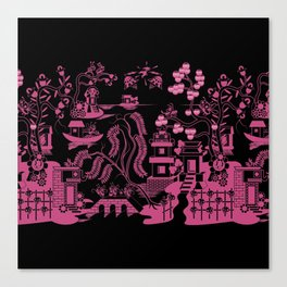 Gooo Willow in Black and pink Canvas Print