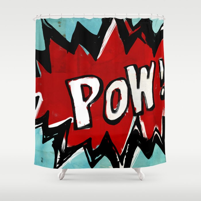 Comic Book: Pow! Shower Curtain