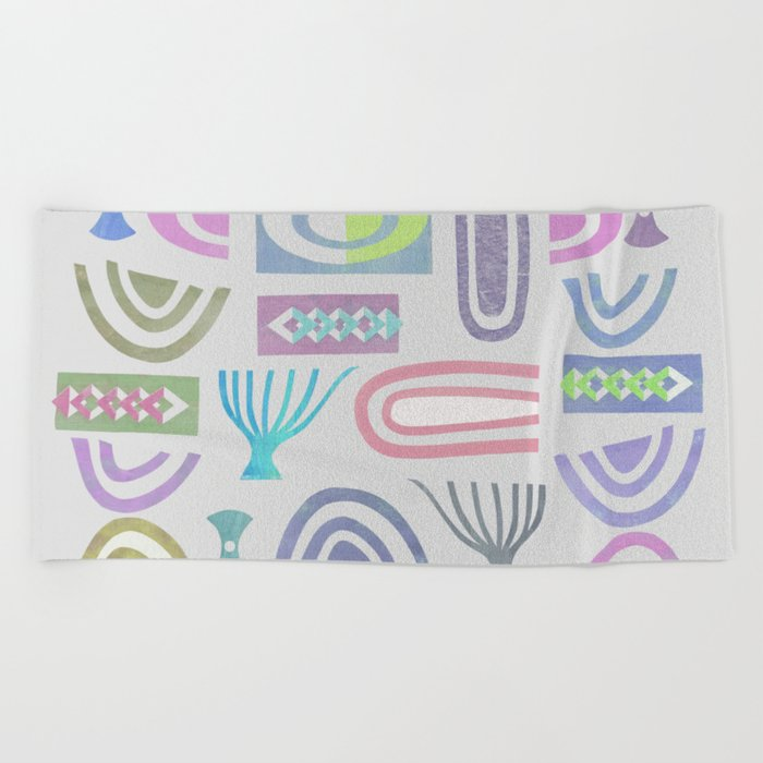 Pale bits Beach Towel
