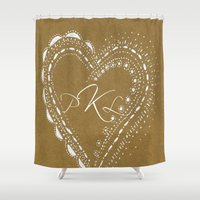 monogram Shower Curtains featuring monogram by L Step