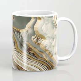 White Gold Agate Abstract Coffee Mug