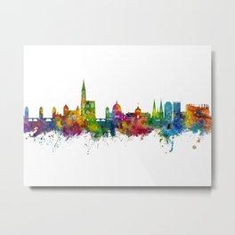 Strasbourg France Skyline Metal Print