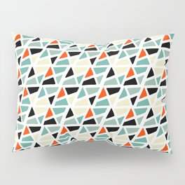 Mid Century Modern Colorful Triangles Pattern Pillow Sham