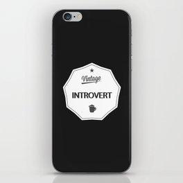 Vintage Introvert iPhone Skin