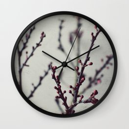 Plum Branches Two Wall Clock