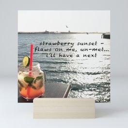 Strawberry Sunset Mini Art Print
