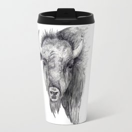 Bison Art Travel Mug