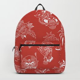 TRADITIONAL TATTOO PATTERN (COLORED) Backpack