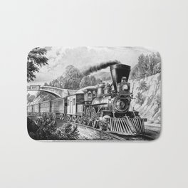 The Express Train 1870 Bath Mat