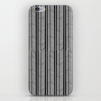herringbone iPhone & iPod Skins featuring Herringbone Stripe by Project M
