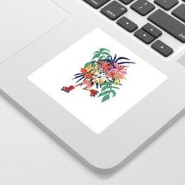 Floral Roller Babe Sticker