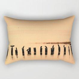 Cormorant Pier Rectangular Pillow