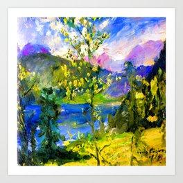 Lovis Corinth October at Walchensee Art Print