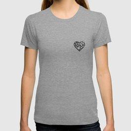 black heart love T-shirt