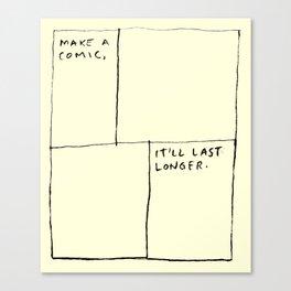 Make A Comic Canvas Print