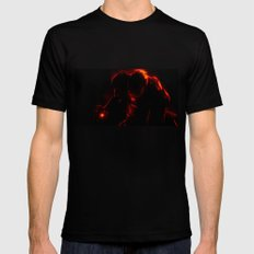 Iron Man Mens Fitted Tee SMALL Black