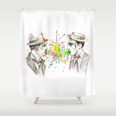 The Tramp v. Stone Face Shower Curtain