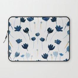 Dreamy Blue Flowers Laptop Sleeve