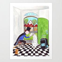 Der Zauberer und sein Dalmatiner Art Print