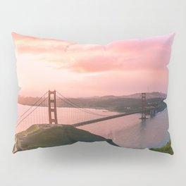 Sherbert Skies over the Golden Gate Bridge from Slackerhill Pillow Sham