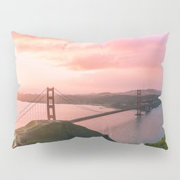 Sherbert Skies over the Golden Gate Bridge from Slackerhill Pillow Sham