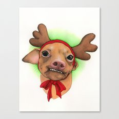 Chihuahua with antlers - Tuna Canvas Print