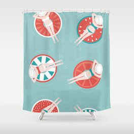 Fruit fun with the girls Shower Curtain