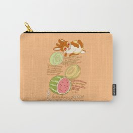 Jackalope and Melon Carry-All Pouch