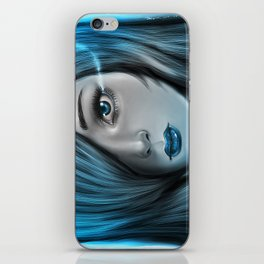 Blue Tear iPhone Skin