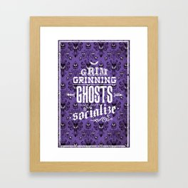 Haunted Mansion - Grim Grinning Ghosts Framed Art Print