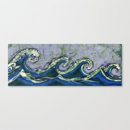 Batik waves 2 Canvas Print