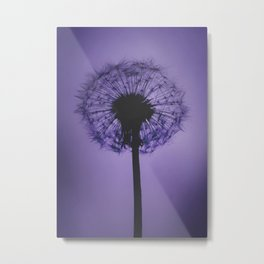 DANDELION PURPLE Metal Print