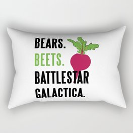 Bears Beets Battlestar Galactica Funny Rectangular Pillow