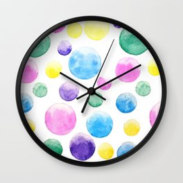 cheerful colorful bubbles Wall Clock