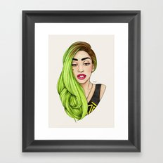 Lady Neon Framed Art Print