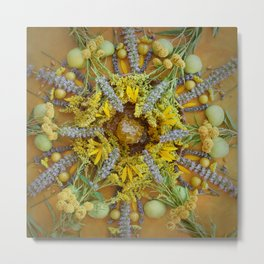Nature Mandala: August Metal Print