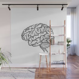 Human Brain Illustration Wall Mural