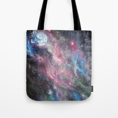 Space and the Moon Tote Bag