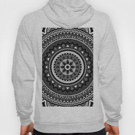 Black and White Mandala Hoody