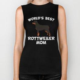 World's Best Rottweiler Mom Biker Tank