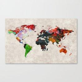 World Map 56 Canvas Print