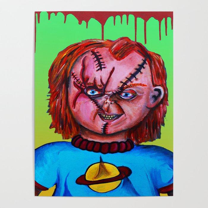 chucky vs chuckie poster by rainarainbowart society6
