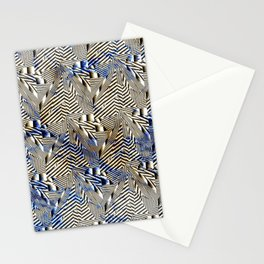 Optical Illusion: Geometric Weave Texture Design Stationery Cards