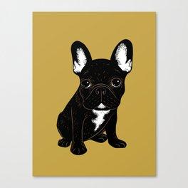 Brindle French Bulldog Canvas Print