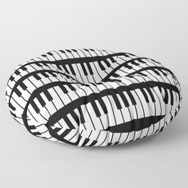 Black And White Piano Keys Pattern Floor Pillow