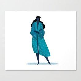 Starry Night Kimono Canvas Print