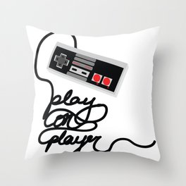 Play On Player Throw Pillow